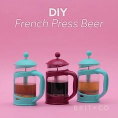 Make beer at home with your French press by following this creative video DIY recipe tutorial.