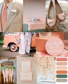 Peach Green Wedding Inspiration Board from Juniper & Dash Wedding Themes, Wedding Designs, Wedding Colors, Wedding Events, Wedding Styles, Our Wedding, Dream Wedding, Wedding Suits, Wedding Wishes