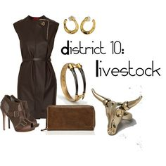 District 10: Livestock, created by checkers007.polyvore.com  Outfit for The Hunger Games, District 10: Livestock.
