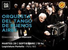 Nueva presentación de la Orquesta de Tango de Buenos Aires.