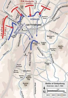 Battle Of Little Round Top July Civil War Pinterest - Gettysburg us map