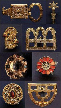 Ashmolean Museum, Oxford Frankish jewellry,500-600 AD