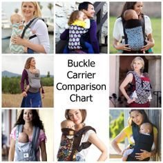 Buckle Carrier Comparison Chart!  Compare the Tula, Beco Gemini, Beco Soleil, Pikkolo, and Ergo Baby Cariers!