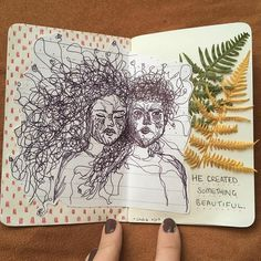 """4,794 Likes, 12 Comments - journal art (@perfectapologies) on Instagram: """"Hope you all have a good day ❤️ // artist: @ssvdie"""""""