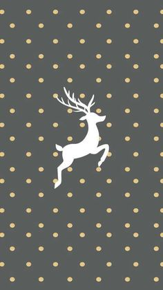 Gold And Grey Reindeer Wallpaper For IPhone Christmas Pictures Ideas Wallpapers Holiday Backgrounds