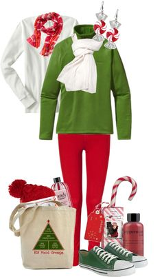 """""""candy cane"""" by classicgal ❤ liked on Polyvore"""