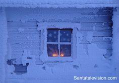 Weihnachtszeit am Berg Ruka in Lappland, Finnland