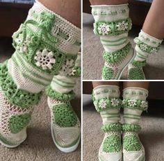 Botas,crochet.