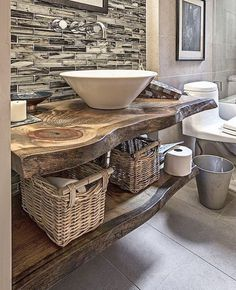 Lovely Rustic Apartments Bathroom - Is the toilet on your flat? Well, are you spatially challenged? If you are suffering from tiny-bathroom-syndrome, it Rustic Bathroom Designs, Rustic Bathroom Vanities, Rustic Bathrooms, Bathroom Faucets, Bathroom Interior, Modern Bathroom, Master Bathroom, Bathroom Ideas, Bathroom Makeovers