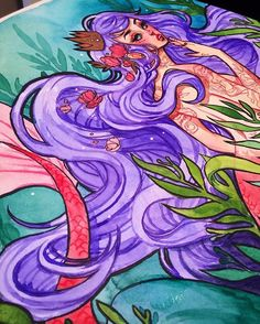 Here's a peek at the final illustration I just finished! I'm working on getting this project completed and then I'll announce it very soon Materials: Shinhan watercolors, pentel pocket brush pen, finetec gold watercolor, fabercastell colored pencils #illustration #artist #jacquelindeleon #mermaid #instaart #artistsofinstagram #shinhan #fabercastell #pentel #atx #mermaid