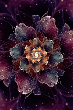 Roles inverted: now it& BoxTail who suggests titles. I still have another bloom to render. You thought you freed yourself from flowers? Flower Phone Wallpaper, Cellphone Wallpaper, Iphone Wallpaper, Screen Wallpaper, Wallpaper Quotes, Fractal Design, Fractal Art, Apple Wallpaper, Psychedelic Art