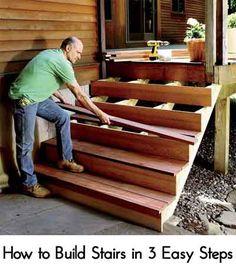 gartentreppe aus holz selber bauen anleitung setzstufen. Black Bedroom Furniture Sets. Home Design Ideas