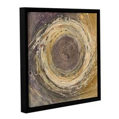 ArtWall Wooden Rings by Albena Hristova Framed Painting Print on Wrapped Canvas Size: