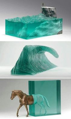Ben Young combines glass and concrete into surprising works of art. Epoxy Resin Wood, Diy Epoxy, Resin Sculpture, Water Sculpture, Creation Art, Resin Furniture, Diy Resin Crafts, Concrete Art, Resin Table
