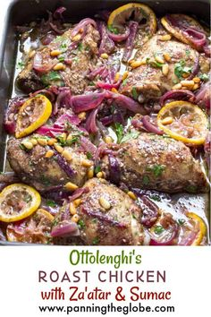 An amazing roast chicken recipe from Ottolenghi. A great dinner party recipe that you can prep ahead. Beautifully spiced chicken with fantastic flavors! #OttolenghiRecipe #RoastChicken