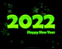 Free Happy New Year 2022 Cool Green Background