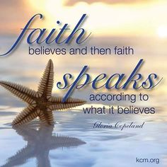 Let your words line up with your faith! Regardless of how a situation may appear or what challenges you face, choose to speak life and believe that God will cause all things to work together for your good!
