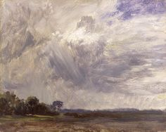 Landscape with Grey Windy Sky, ca 1821, John Constable. English (1776 - 1837)