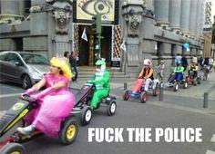 Just playing Mario Kart....Wait what?!
