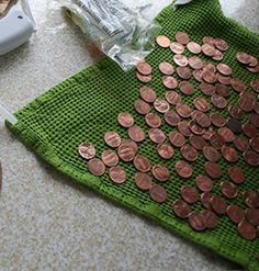 Don't give away your pennies! They're the secret to stunning decorations - Name signs in pennies.