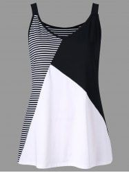 Plus Size Striped V Neck Tank Top Cheapest and Latest women & men fashion site including categories such as dresses, shoes, bags and jewelry with [. Plus Size Tank Tops, Plus Size T Shirts, Striped Tank Top, Black Tank Tops, Crop Tops, Sewing Clothes Women, Clothes For Women, Cheap Clothes, Diy Clothes