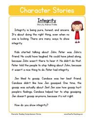 Respect character reading comprehension worksheet resources social studies education worksheets main ideas in paragraphs Reading Comprehension Worksheets, Reading Fluency, Reading Passages, Reading Strategies, Comprehension Strategies, English Stories For Kids, Moral Stories For Kids, English Moral Stories, English Story