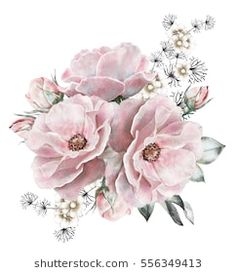 Find Watercolor Flowers Floral Illustration Rose Bunch stock images in HD and millions of other royalty-free stock photos, illustrations and vectors in the Shutterstock collection. Illustration Rose, Floral Illustrations, Watercolor Flowers, Watercolor Paintings, Craft Images, Bunch Of Flowers, Decoupage Paper, Vintage Paper, Paper Flowers