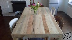 rustic dining pallet tables - Google Search