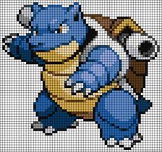 Blastoise Pokemon perler bead pattern                              …
