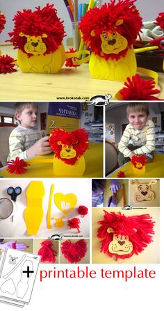 LION in Love - kids activities Animal Crafts For Kids, Craft Activities For Kids, Projects For Kids, Diy For Kids, Bible Crafts, Crafts To Do, Arts And Crafts, Paper Crafts, Kids Crafts