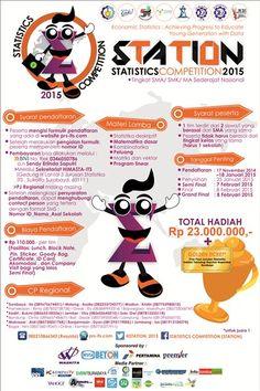 "Statistics Competition (STATION) 2015 ""Economic Statistics : Achieving Progress to Educate Young Generation with Data"" Tingkat SMA / SMK / MA Sederajat Nasional Grand Final : 8 Februari 2015  http://eventsurabaya.net/statistics-competition-station-2015/"