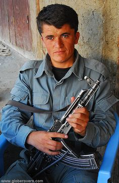Well armed man guard the village of Shughnan, AFGHANISTAN