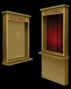 Faux Ticket Booth Idea Home Theater Ideas Pinterest