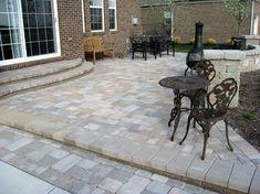 raised patios - traditional - patio - detroit - Apex Landscape and Brick Services LLC