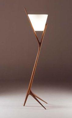 Lamp made by Noriyuki Ebina, Japanese furniture designer... for more visual delights please visit our facebook page facebook.com/abrasiv.abrasiv