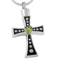 Cross Urn Necklace for Ashes - Cremation Jewelry Memorial Keepsake Pendant - Funnel Fill Kit Included by Johnston's Cremation Jewelry -- Awesome products selected by Anna Churchill