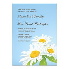 Spring Daisies Wedding Invitation Card