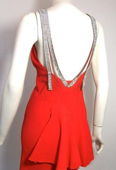 1930s vintage gown - Back view