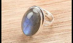 Silver Rings –Beautifully handmade 925 Sterling Silver 37ct Labradorite ring BJR8077 of Midas - jewelry made of 925 sterling silver with natural Labradorite Stones . Select this Labradorite Ring in order to add new definition your personality – a unique product by Midas-Jewelry via en.dawanda.com