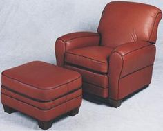 Leather Chair Ottoman Cool Chairs For Bedroom 3183 Best Ottomans Images Tight Back With Club