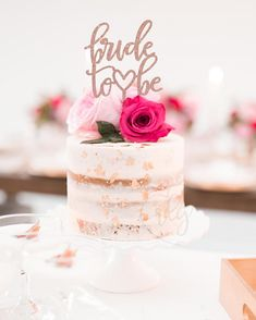 Bride to Be Calligraphy Metallic Glitter Cake Topper - $20.00 - Rebecca Lane Graphics - etsy.com