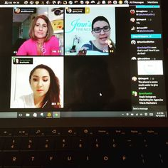 Catching an awesome #Blab on #instagrammarketing for agencies VAs and marketers by @SueBZimmerman @theinstagramexpert and @jenns_trends with @rachelpolish moderating.