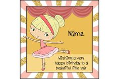 Ballerina birthday card, birthday greetings, cute birthday card, personalised card, dancer birthday, ballet card, dance class, card for girl by ShellsCCC on Etsy Ballerina Birthday, Ballerina Dancing, Little Ballerina, Cute Birthday Cards, Very Happy Birthday, Birthday Greetings, Colors For Skin Tone, Motivational Gifts, Unique Cards