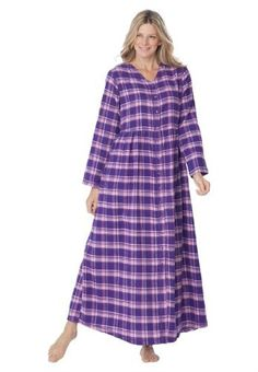 2630db93a80 Industries Needs — Only Necessities Plus Size Flannel Snap-Front... Plus  Size · Plus Size SleepwearWomen s ...