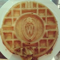 Yum. @kstamborski So we have custom #uwmadison waffle makers...#myschoolbeatsyourschool