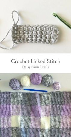 Free Pattern - Crochet Linked Stitch #crochet