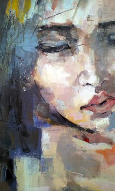 "thomasdonaldsonart: ""detail, work in progress, oil on canvas, 90x90cm """