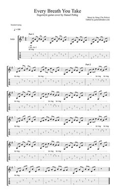Every Breath You Take - fingerstyle guitar tablature 1 ...  Fingerstyle