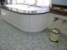 Afbeeldingsresultaat voor pvc portugese tegels Outdoor Furniture, Outdoor Decor, Kitchen Island, Tiles, New Homes, Art Deco, Bathtub, Flooring, The Originals