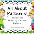 All About Patterns {Repeating and Additive Pattern Activities} - pinned by – Please Visit for all our ped therapy, school & special ed pins Patterning Kindergarten, Preschool Math, Math Classroom, Kindergarten Activities, Fun Math, Teaching Math, Math Stations, Math Centers, 1st Grade Math